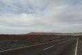 Desert road in the Sinai desert in Egypt Royalty Free Stock Photo