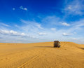 Desert safari background awd car in dunes thar rajasthan india Stock Photography