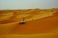 Desert safari dubai ride in four wheel adventurous drive Stock Images