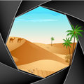 Desert Scene through Camera Stock Images