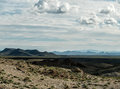 Desert scenery from Historic Route 66 in Arizona Royalty Free Stock Photo