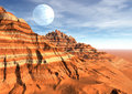 Desert strange scene planet moon Royalty Free Stock Photo