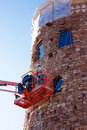 Desert View Watchtower Renovations Royalty Free Stock Image