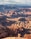 Desert vista of red rock canyons the canyonlands national park utah Stock Image
