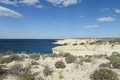 Desert white sand seashore Royalty Free Stock Photo