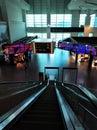Deserted airport terminal building in Kuala Lumpur. Pandemic coronavirus 2020 Royalty Free Stock Photo