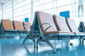 Deserted airport terminal Royalty Free Stock Photo