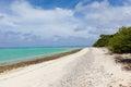 Deserted beach at aitutaki cook islands Stock Images