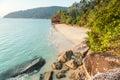 Deserted beach on pulau tioman malaysia off east coast Royalty Free Stock Image