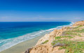 Deserted Beach - Torrey Pines State Natural Preserve - Californ Royalty Free Stock Photo