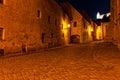Deserted street of Bratislava