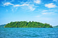 Deserted tropical island Royalty Free Stock Photography