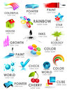 Design 3d color icon set. Design elements Stock Image