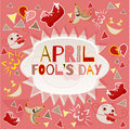 Design banner with april fool`s day logo