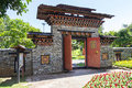 The design of bhutan gateway Royalty Free Stock Photo