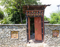 The design of bhutan gateway Royalty Free Stock Photo