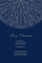 Design blue invitation for merry christmas vector eps Royalty Free Stock Image