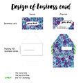 Design of business card with packing Royalty Free Stock Photo
