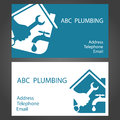 Design business cards for plumbers plumbing and working Royalty Free Stock Photo