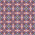 Design from the caribbean seamless vector textile pattern in dynamic vibrant and fancy colors inspired by traditional motifs Stock Image