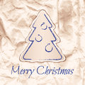 Design of christmas card in laconic ecostyle vector illustration Royalty Free Stock Photos