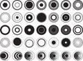 Design circles illustrated on white Royalty Free Stock Photos