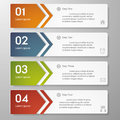 Design clean number banners template graphic or website layout vector Stock Images