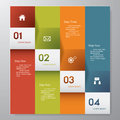 Design clean number banners template graphic or website layout vector Royalty Free Stock Photos