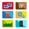 Design color icons vector with information symbols Royalty Free Stock Images