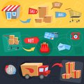 Design concept of e-commerce Royalty Free Stock Photo