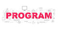 Design Concept Of Word PROGRAM Website Banner.