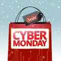Design for the cyber Monday sale, vector graphics for the site Royalty Free Stock Photo
