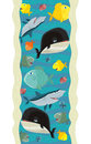 Design decoration with fishes underwater wallpaper illustration for the children beautiful and colorful fish Stock Image
