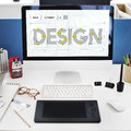 stock image of  Design Draft Creative Ideas Concept