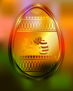 The design of Easter eggs and rabbit