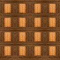 Design with ebony and light wood ornate wooden Royalty Free Stock Images