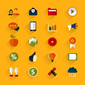 Design element set of icons for web a vector illustration Royalty Free Stock Images