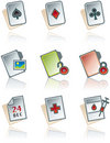 Design Elements 43b. Paper works Icons Set Royalty Free Stock Photography