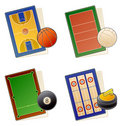 Design Elements 49b. Sportfields Icon Set Stock Images
