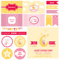 Design Elements - Baby Shower Bunny Theme Royalty Free Stock Photo