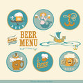 Design elements for beer sea subjects Stock Photo