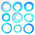 Design elements in blue colors icons. Set 2 Stock Images