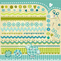 Design elements blue cute textured Royalty Free Stock Photos