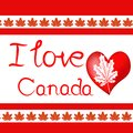 Design elements for Canada Day first of July. Vector