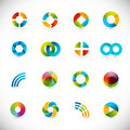 Design elements - circles Stock Photos
