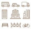 Design Elements for City Illustration or Map