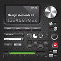 Design elements dark user interface controls Royalty Free Stock Photo
