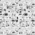 Design elements doodle icons hand drawn big set simplified background texture and pattern set Stock Image