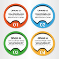 Design elements for four steps infographics Stock Image
