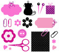 Design elements for handmade fashion Royalty Free Stock Photo